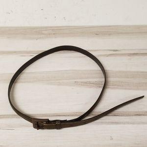 Celine Bronze Leather Belt